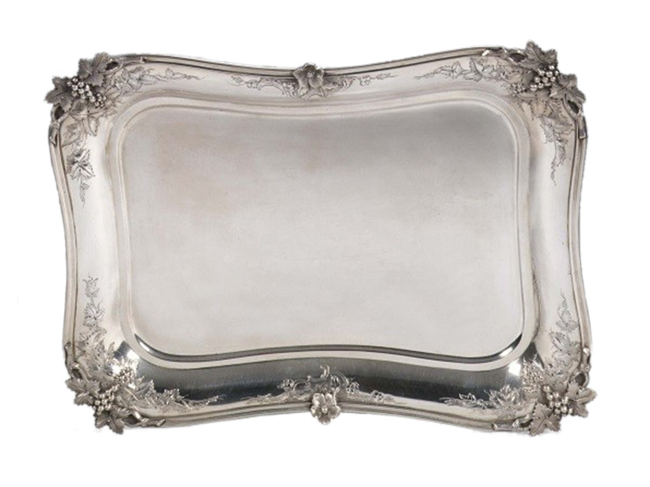 Dutch silver salver