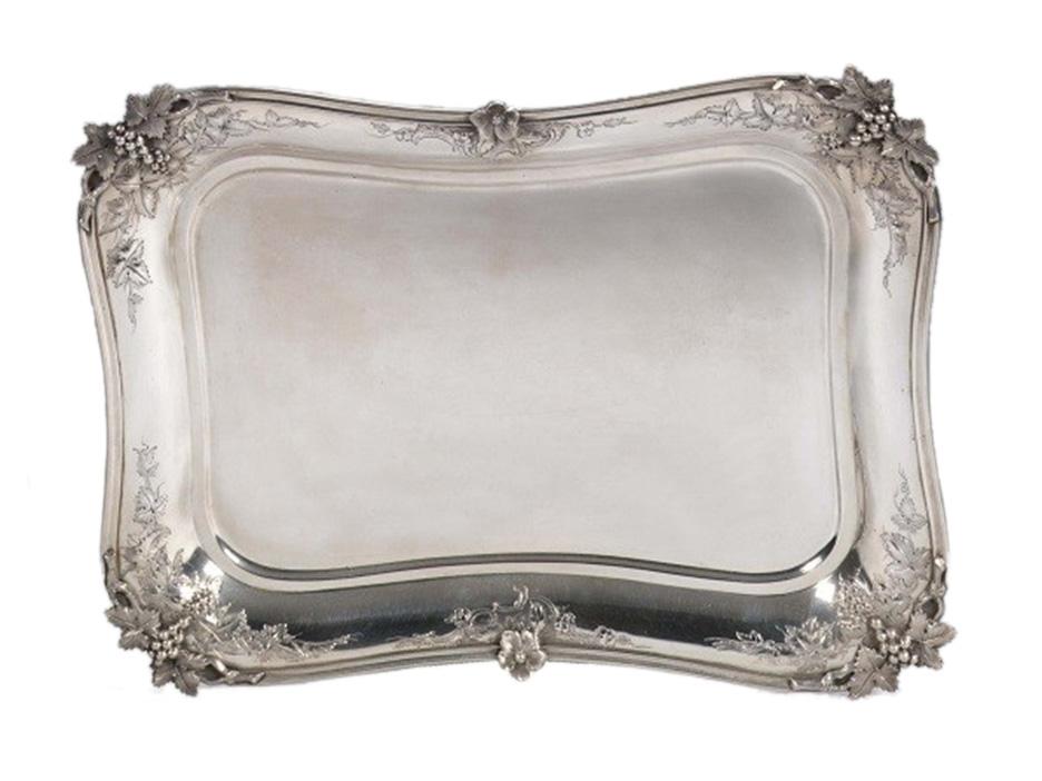 Dutch silver salver