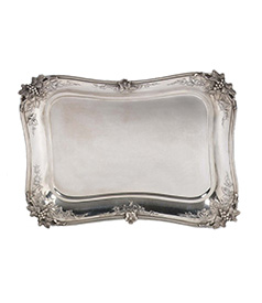 Dutch Silver Serving Tray