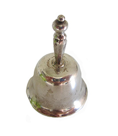 Dutch miniature silver table bell