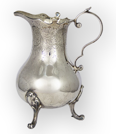 Dutch Silver engraved Cream Jug