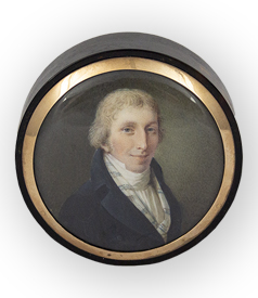 Portrait miniature of a gentleman carousel