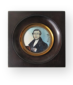 Portrait miniature of Andreest Jr. by S.B. Benavente