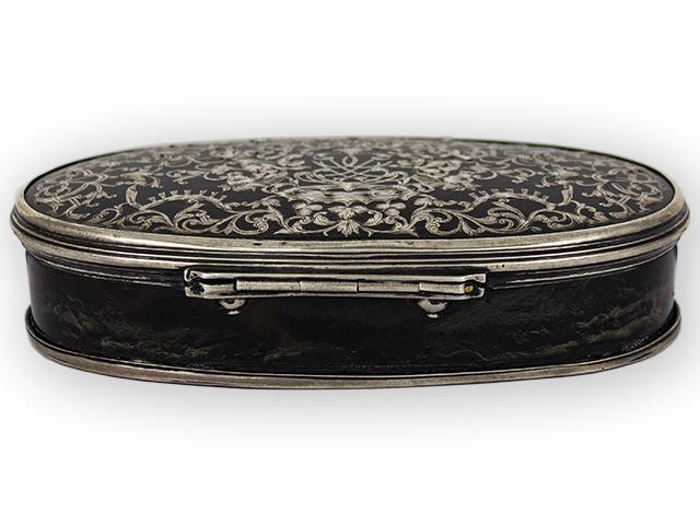 Tortoiseshell Silver mounted Tobacco Box