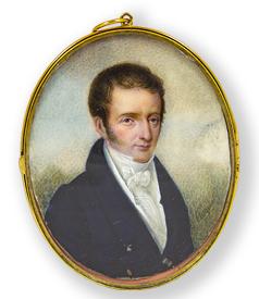 Portrait miniature of Marinus Cornelis Bichon van IJsselmonde by Pasquier (II) preview