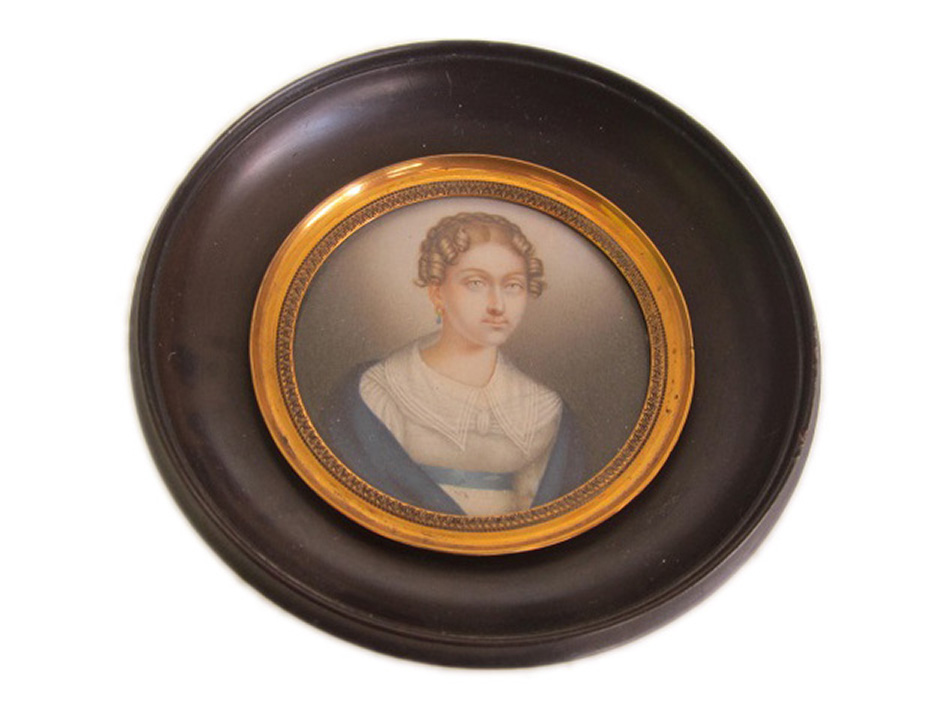 Portrait Miniature of a younglady ca. 1830