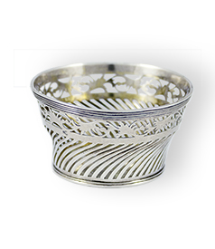 Dutch silver clew basket Amsterdam 1810-12