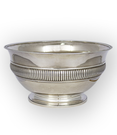 Dutch Empire style Silver Bowl 1827 by Gerardus Peeters carousel