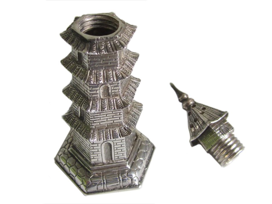 Miniature Chinese Silver Pepperette (05)