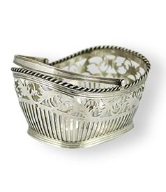 Dutch silver clewbasket, H. van Delden, Zwolle 1814-1846