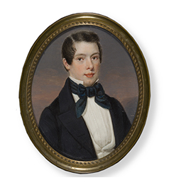 Daniel-Nederveen-1811-1891-Portrait-miniature-young-man-1840-car