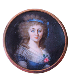 Portrait Miniature of a lady, ca. 1790 (Car)