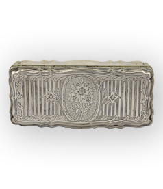 Engraved tobacco box