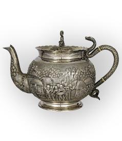 Calcutta silver teapot carousel