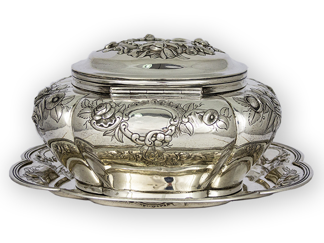 Dutch Silver Biscuit/Cookie Jar backside