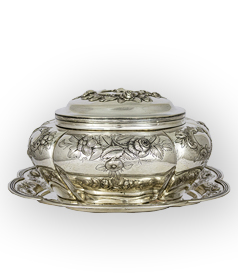 Dutch Silver Biscuit/Cookie Jar
