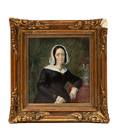 Daniel-Nederveen-Portrait-15,5x15cm-lady-signed-dated-1844-car