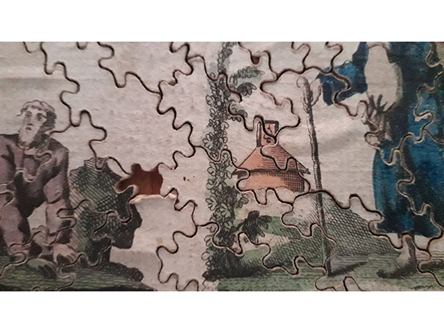 Jigsaw puzzle England ca. 1790 detail
