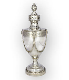 Dutch silver sugar caster