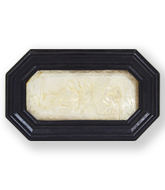 Carved mother of pearl plaquette with symbolic Swan Song ca. 1740 preview