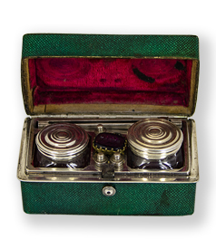 Chagrin travelling necessaire with writing tools, ca. 1800 preview