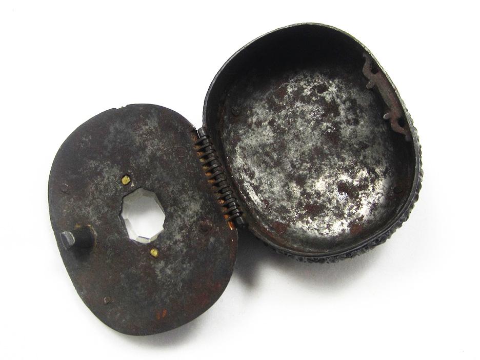 Cast iron box (open)