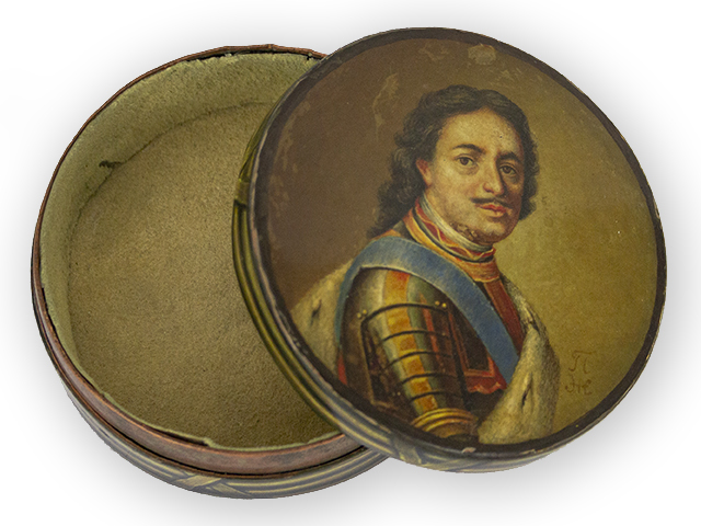 snuffbox with the portrait of Tsar Peter the Great